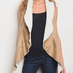 HP BEST IN BOUTIQUES!🔥Taupe Sherpa Vest